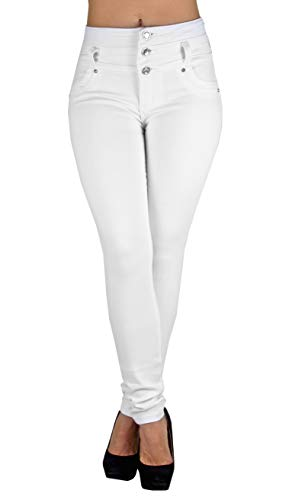 Colombian Design, Butt Lift, High Waist Skinny Jeans in White Size 7