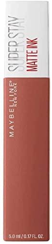 Maybelline New York, SuperStay Matte Ink, Pintalabios Mate de Larga Duración, Tono 70 - Amazonian, Marrón Claro Nude