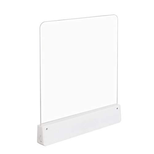 Luz de lectura LED con brillo ajustable, luz de marcador de mano portátil, luz de estudio ajustable Lámpara de aprendizaje junto a la cama: evita la deformación de la fuente / encogimiento de página
