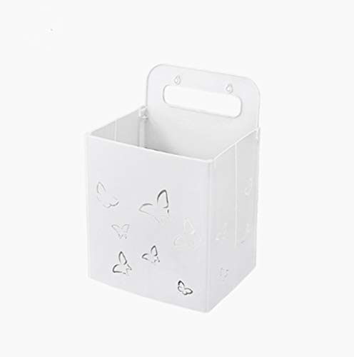 Inklapbare wasmand, badkamer veelzijdige spoor stickers, gratis huisvesting case voor het ponsen handschoen hanging baskets, manden Zangyi butterfly - wit -26,5 * 21,6 * 38.6CM,White