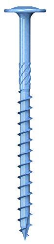 50 viti per legno 8,0 x 140 mm in acciaio zincato – Torx TX40 con testa piatta, filettatura parziale, EU – omologazione ETA, viti per legno