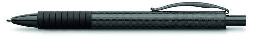 Faber-Castell 148888 - Kugelschreiber Basic Black Carbon, Mine B, schwarz