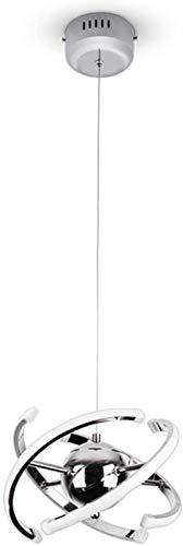 FLAUU Luce Acrilico Pendente, Pendente Moderna LED Bianco Naturale Luce con 4 Strisce 23W Finitura cromata [Classe energetica A +]