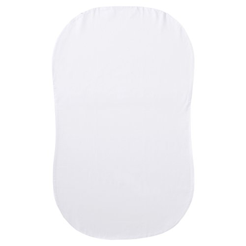Halo Bassinest Fitted Sheet, 100% Cotton, Super Soft Bassinet Sheet for Baby Boys, Girls and Unisex, Breathable and Lightweight Mattress Pad Cover, White