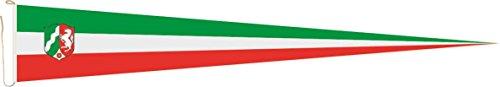U24 Langwimpel Nordrhein - Westfalen NRW Fahne Flagge Wimpel 200 x 40 cm Premiumqualität