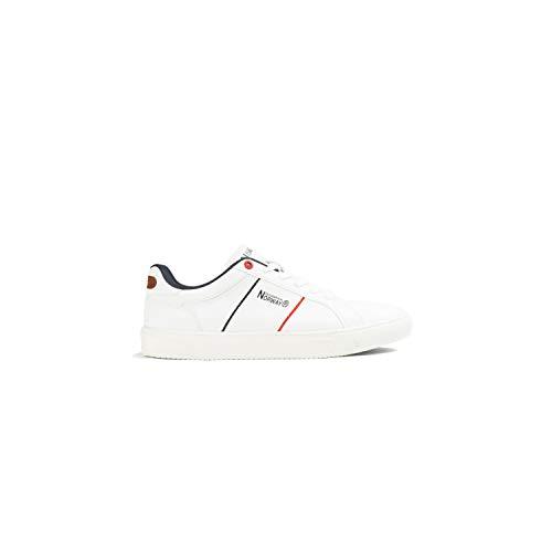 Geographical Norway - Zapatillas Deportivas Casual Hombre - Sneakers, Blanco, 40