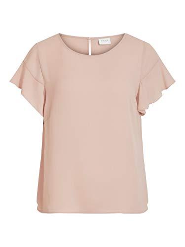 Vila NOS Damen VILUCY Flounce S/S TOP-NOOS T-Shirt, Pale Mauve, M