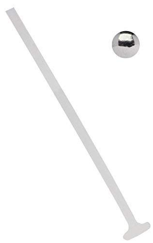 Modern Nature Piercing-Schmuck Madonnapiercing, Lippenpiercing Teflon 1,2 mm Weiss mit Titan Kugel in 3 mm