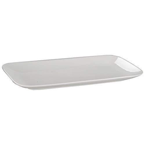 DRULINE Geschirrserie New Bone China Geschirr Teller Platte Schüssel Porzellan Weiß Platte (Groß - 36 cm) 6 Stück