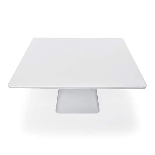 WAS 9731 300 Melamine Tortenplatte auf Fuß, Eckig, 30 x 30 x 16 cm, 6 Stück