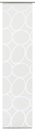 GARDINIA Flächenvorhang (1 Stück), Schiebegardine, Blickdicht, Flächenvorhang Stoff Dekor, Stein-Muster, Weiß, 60 x 245 cm (BxH)