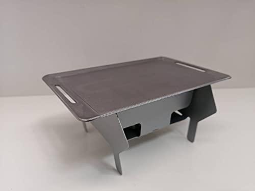 ソロキャンプ初心者用 ひとり焼き肉セット ミニ鉄板 ミニ焚き火台 固形燃料3個セット