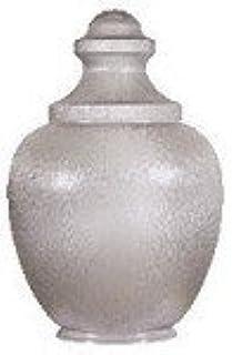 21 Inch Clear Acrylic Medium Macho Acorn Lamp Post Globe with 8 Inch Neck
