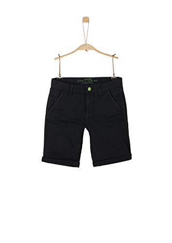 s.Oliver Junior Jungen Hose Kurz Shorts, Black, 164 / REG