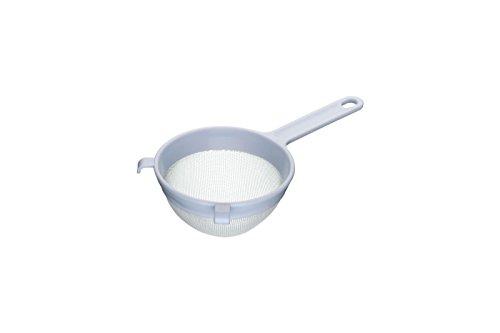 Kitchen Craft KCSTRPL120 Rundes Sieb, Kunststoff, mit Nylongeflecht, 12 x 12 x 30 cm, Weiß