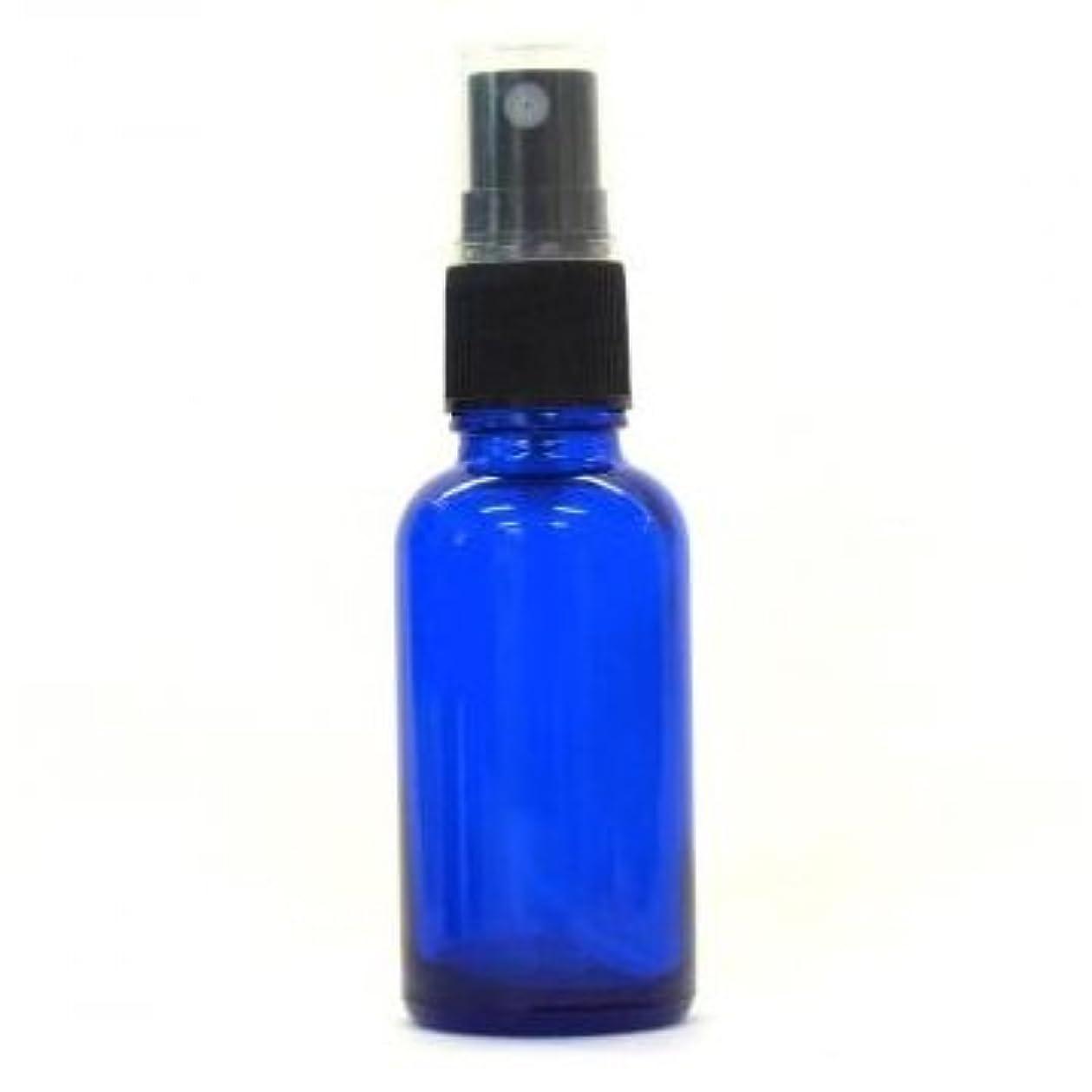 ブラウス和らげる遺跡アロマ遮光瓶 コバルトブルー 30ml フィンガースプレー ガラス瓶 アロマ材料