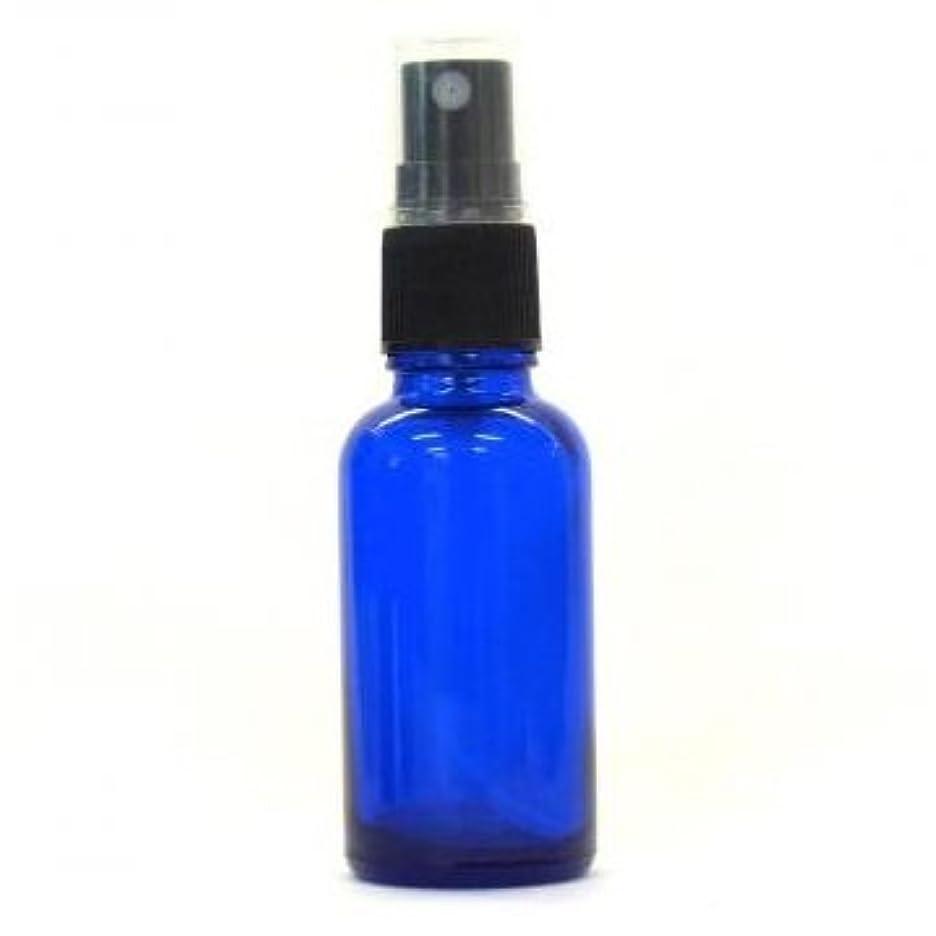 ウィスキーブレーキ里親アロマ遮光瓶 コバルトブルー 30ml フィンガースプレー ガラス瓶 アロマ材料