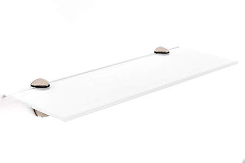 Elisando Glasregal weiß 50 x 20 cm   6 mm stark   Wandregal mit Halterung   Glasablage...