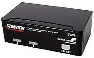 New Startech SV231 New 2 x 1 - 2 x mini-DIN PS/2 Keyboard 2 x mini-DIN PS/2 Mouse