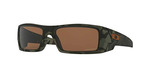 Oakley Gascan, OO9014 (51) Matte Olive Camo/Prizm Tungsten Polarized 60mm, Sunglasses Bundle with original case, and accessories (6 items)
