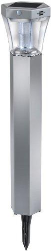 Brennenstuhl 1170790 Balise de Jardin LED Solaire SOL FL 13007 Aluminium/Plastique Argenté