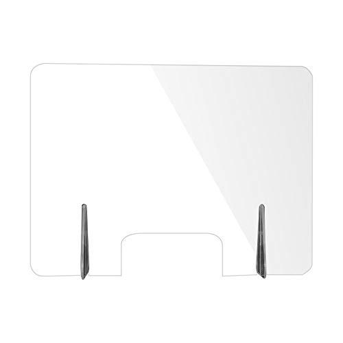 Mesas de acrílico transparente cenar Junta Tabla aislamiento, particiones de uñas, anti-gota Reflectores, caja registradora Desk Top, cero contacto (tamaño: 60 * 48 cm)