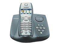 Siemens Gigaset S150 - Teléfono inalámbrico DECT con contestador automático, color azul