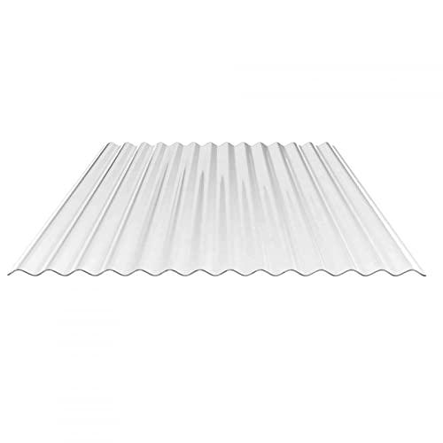 Lichtplatte   Wellplatte   Lichtwellplatte   Material Acrylglas   Profil 76/18   Breite 1045 mm   Stärke 1,8 mm   Farbe Glasklar