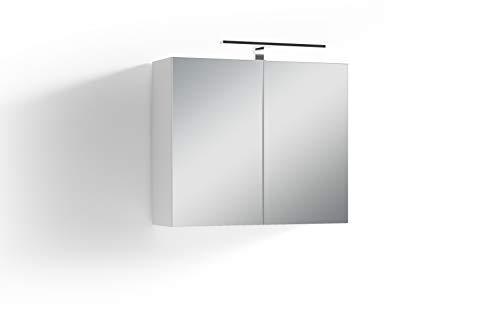 Homexperts Salsa Spiegelschrank, Weiß, 70 x 60 x 20cm (BxHxT)