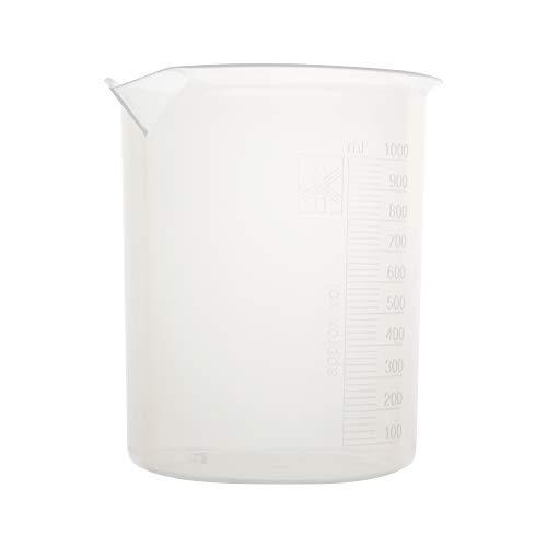 Vaso de precipitados de Polipropileno, graduado con relieve, 1000 ml, 6 uds...