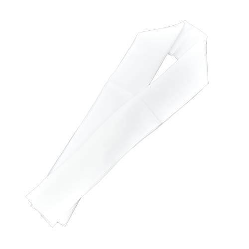半襟 半衿 正絹 絹 白 塩瀬絹糸100% 黄変防止加工済 a108020