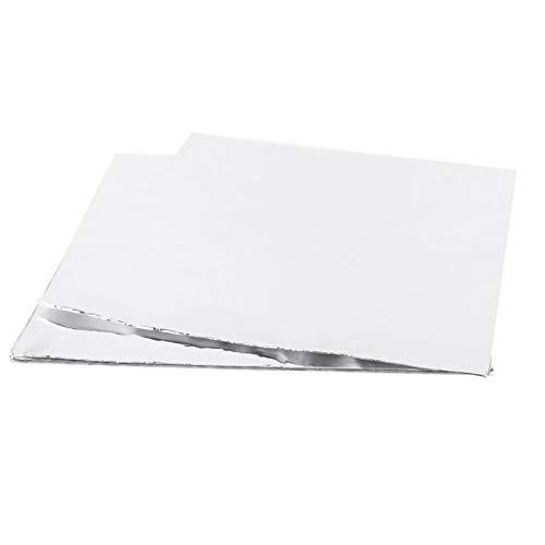 CUYT Papel de Aluminio, Lata para Hornear a Prueba de Humedad del Papel de Aluminio de la Barbacoa 11.8x11.8inch para la Barbacoa