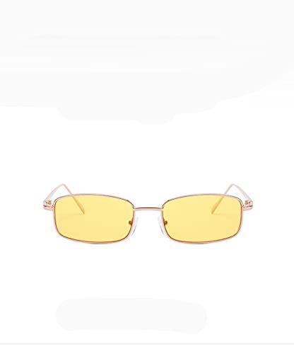 BANLV Gafas de Sol de Montura pequeña Gafas de Sol de Metal Retro de Montura Completa Gafas de Sol de Personalidad para Mujer
