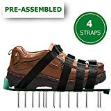 OXYVAN Lawn Aerator Shoes Universal Pre Assembled Spiked Aerating Sandals with 4 Adjustable Metal Straps for Soil and Grass Health Care …