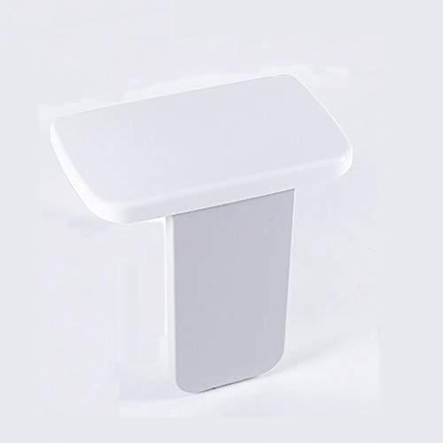 Wandmontage Faltbarer Duschsitz/Faltbarer Duschsitz Hocker/Behinderte Badbank/Antibakterieller Duschhocker/Wandmontierter Sitz Moderner Badesitz (weiß)