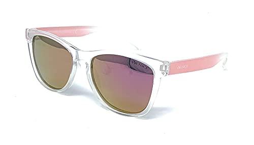 VENICE EYEWEAR OCCHIALI | Gafas de sol Polarizadas para niño (Rosa-Transparente) | Gafas sol niña polarizadas