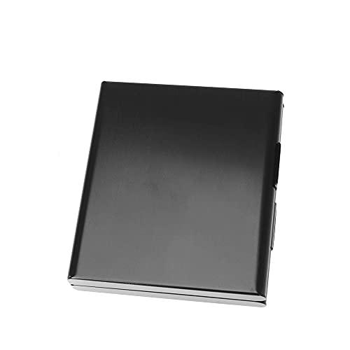 DIYWORK Pitillera ultrafina para 20 cigarrillos, caja cuadrada de metal, Negro , Small