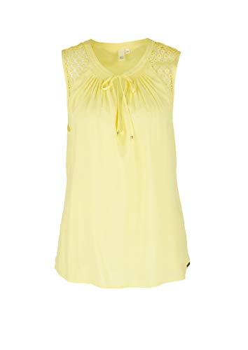 Q/S designed by - s.Oliver 510.12.004.10.100.2040029 Bluse Damen, Gelb (1195 lemon sorbet), 40 EU