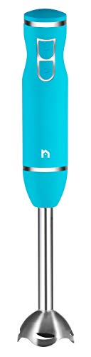 New House Kitchen Immersion Hand Blender 2 Speed Stick Mixer with Stainless Steel Shaft & Blade, 300 Watts Easily Food, Mixes Sauces, Purees Soups, Smoothies, and Dips, Turquoise