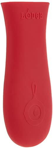 """Lodge ASHH41 Red Hot Holder Heat Protecting Silicone Cast Iron Skillets with Keyhole Handle, 5-5/8"""" L x 2"""" W"""