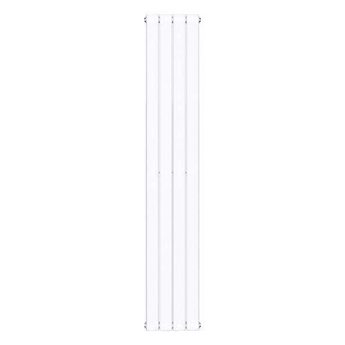 Sogood Design Badheizung 160x30cm Weiß Paneelheizkörper Zweilagig Vertikal Mittelanschluss Bad-Heizkörper