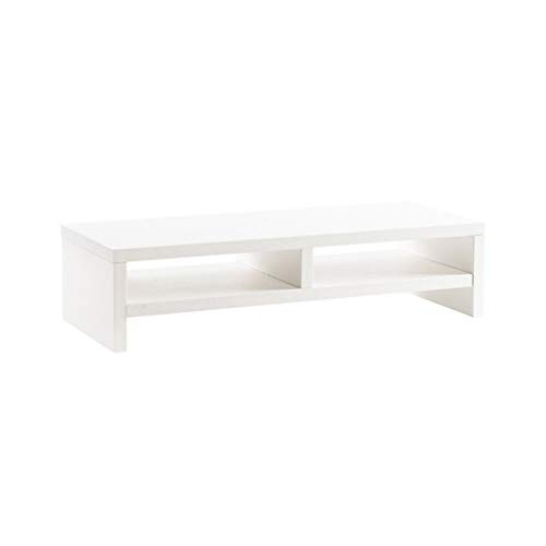 Monitor Stand Riser Double Layer Office Computer Monitor Increase Rack Student Dormitory Desktop Storage Shelf Bracket Rack For Computer Screen (Color : White, Size : 49.5x12x20CM)