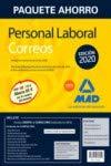 Paquete Ahorro Personal Laboral Correos 2020. Ahorra 65 € (incluye Temarios 1 y 2; Test; Simulacros de Examen 1 y 2; Psicotécnico y acceso a Curso Oro)