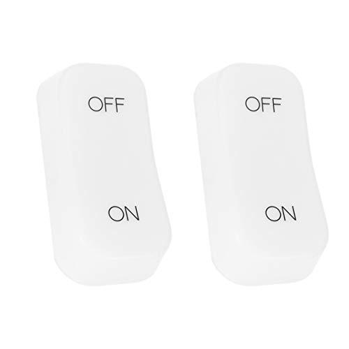 Uonlytech - 2 lámparas de mesa recargables con sensor de gravedad, luz nocturna LED, interruptor de encendido/apagado, para lámpara de noche regulable (blanco)