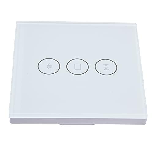 Interruptor De La Cortina De WiFi, Interruptor De Cortina Del Tacto Del Control Del Tacto De La Voz WiFi Elegante Para El Hogar