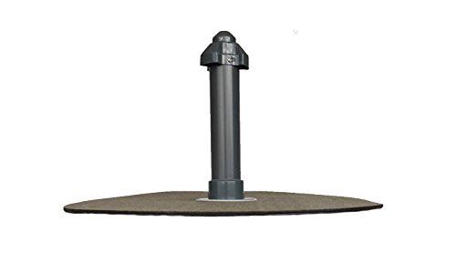 Flachdachlüfter DN 50, Bitumen-Flansch rund, Lüfter, Abluft, Dachentlüftung
