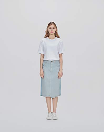 Ce& (シーイーアンド) ユニセックス カラーTシャツ 半袖 (White/S)