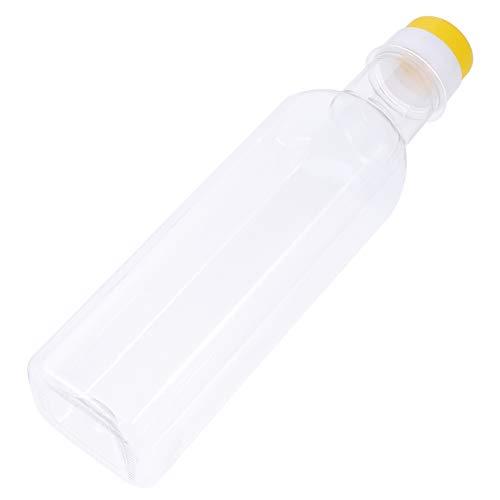 Hemoton Botella de Aceite de Oliva de 6 Piezas con Tapa Dispensador de Botella de Vinagre Desechable de Plástico Transparente Accesorio de Cocina para Cocinar Hornear 500 Ml