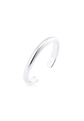 Elli Ring Damen MIDI im Minimal Design in 925 Sterling Silber