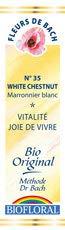 Biofloral, Flores De Bach 35 White Chesnut - Castaño Blanco Bio Demeter - 20 ml